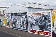 贝尔法斯特和平墙壁壁画 免版税库存图片