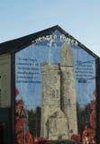 贝尔法斯特爱尔兰政治墙壁艺术 免版税库存照片