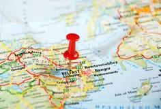 贝尔法斯特爱尔兰,英国地图 免版税库存照片