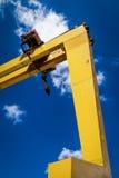 贝尔法斯特造船厂起重机 免版税库存照片