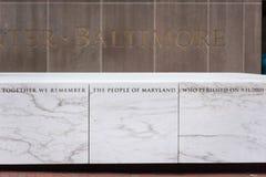 巴尔的摩马里兰9/11纪念品 库存图片