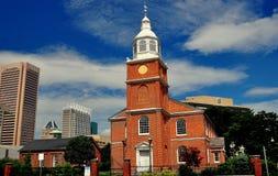 巴尔的摩,马里兰:1785老Otterbein教会 库存图片