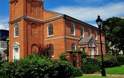 巴尔的摩,马里兰:1785老Otterbein教会 库存照片