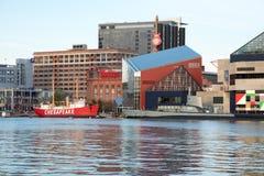 巴尔的摩,马里兰- 2月18 :内在港口在巴尔的摩,马里兰, 2017年2月18日的美国 免版税库存照片