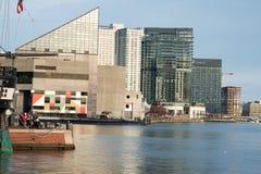 巴尔的摩,马里兰- 2月18 :内在港口在巴尔的摩,马里兰, 2017年2月18日的美国 免版税图库摄影