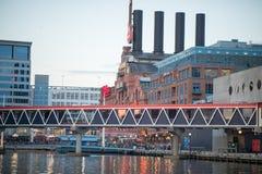 巴尔的摩,马里兰- 2月18 :内在港口在巴尔的摩,马里兰, 2017年2月18日的美国 免版税库存图片