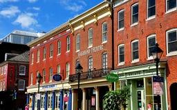 巴尔的摩, MD :地痞剧院在击倒点 免版税库存照片