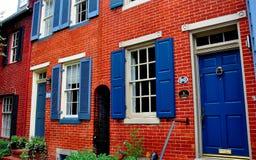 巴尔的摩, MD :联邦小山18世纪家 免版税库存图片