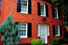 巴尔的摩, MD :巴尔的摩, MD :联邦小山18世纪家 免版税库存图片