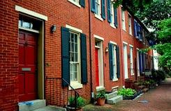 巴尔的摩, MD :巴尔的摩, MD :联邦小山18世纪家 库存照片
