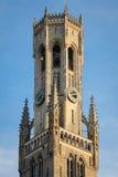 贝尔福 集市广场 布鲁日 比利时 免版税库存图片