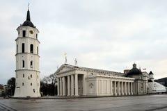 维尔纽斯大教堂是立陶宛首都的心脏 免版税图库摄影