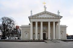 维尔纽斯大教堂是立陶宛首都的心脏 免版税库存图片