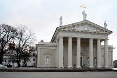 维尔纽斯大教堂是立陶宛首都的心脏 库存照片