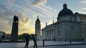 维尔纽斯大教堂正方形 影视素材