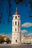 维尔纽斯大教堂钟楼  免版税图库摄影