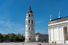 维尔纽斯大教堂 库存照片