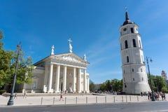 维尔纽斯大教堂 免版税库存照片