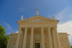 维尔纽斯大教堂Fascade -其中一个特征o 免版税图库摄影