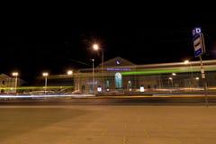 维尔纽斯市在晚上 库存图片