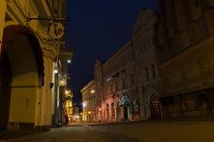 维尔纽斯市在晚上 图库摄影