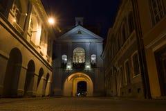 维尔纽斯市在晚上 免版税库存照片