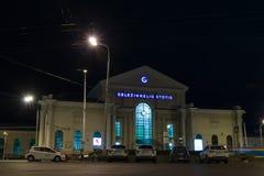 维尔纽斯市在晚上 免版税库存图片