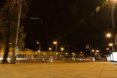 维尔纽斯市在晚上 免版税图库摄影