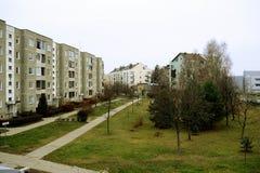 维尔纽斯市秋天时间的Pasilaiciai区2014年11月14日 库存照片