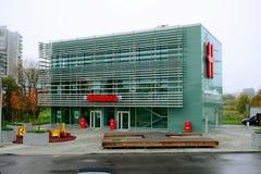 维尔纽斯市2014年10月17日的Seskine区Hesburger 库存图片