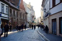 维尔纽斯立陶宛中心视图的市首都 库存照片