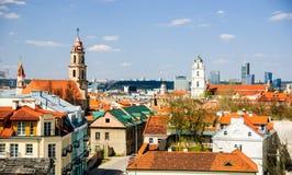 维尔纽斯老镇,立陶宛 免版税库存图片