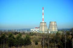 维尔纽斯能量(Vilniaus energija)能量生产商在城市 库存照片