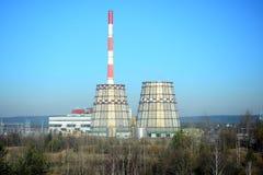 维尔纽斯能量(Vilniaus energija)能量生产商在城市 免版税库存图片