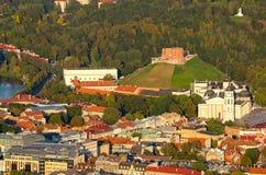 维尔纽斯,立陶宛老镇鸟瞰图  免版税图库摄影