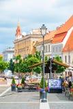 维尔纽斯,立陶宛街市  免版税库存图片