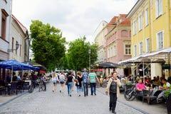 维尔纽斯,立陶宛- 2016年8月11日:老镇的街道维尔纽斯,其中一个北部的最大生存中世纪老镇 免版税库存图片