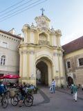 维尔纽斯,立陶宛- 2013年8月16日 门Basilian修道院 免版税库存照片