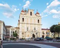 维尔纽斯,立陶宛- 2013年8月16日 St卡齐米` s教会 图库摄影