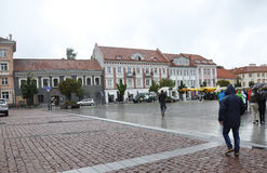 维尔纽斯,维尔纽斯威严的24-Downtown在立陶宛 免版税库存照片
