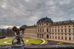 维尔茨堡住所的历史大厦在巴伐利亚 免版税库存图片