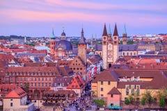 维尔茨堡鸟瞰图  免版税库存照片