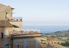 费尔莫,马尔什地区,意大利 免版税图库摄影
