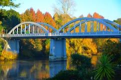 费尔菲尔德桥梁,哈密尔顿,怀卡托,新西兰 免版税库存照片