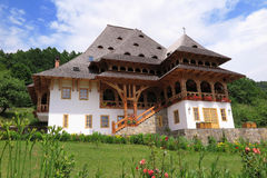 巴尔萨纳修道院复合体在Maramures 免版税库存图片