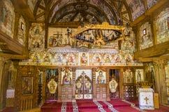 巴尔萨纳木修道院, Maramures,罗马尼亚 免版税图库摄影
