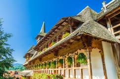 巴尔萨纳木修道院, Maramures,罗马尼亚 免版税库存图片