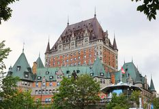 费尔蒙特大别墅FRONTENAC魁北克 库存照片
