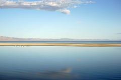 索尔顿湖的宽度 免版税图库摄影
