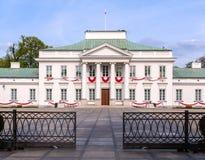 贝尔维德雷宫在华沙,波兰 免版税库存图片